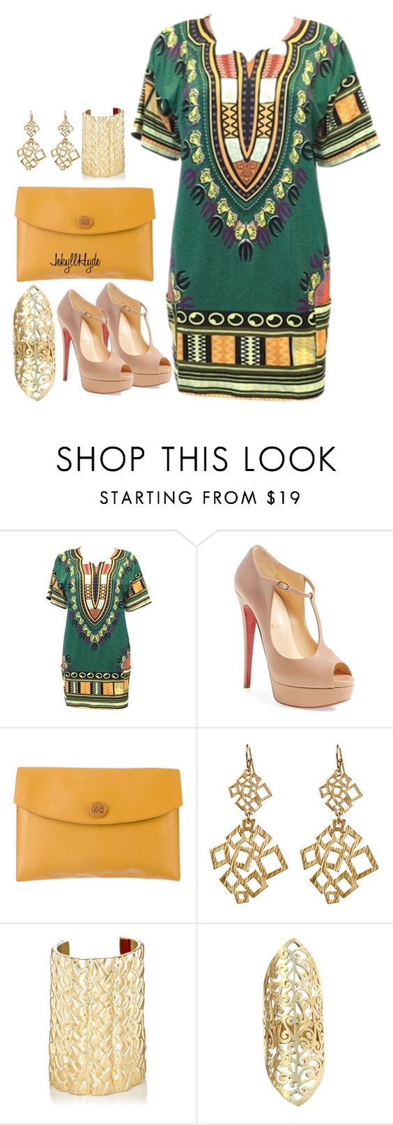 """Sydney"" by jekyllhyde on Polyvore featuring Christian Louboutin, Hermès, Amrita Singh, Jennifer Fisher, Urbiana, DateNight, nightonthetown, womensFashion and glamtime"