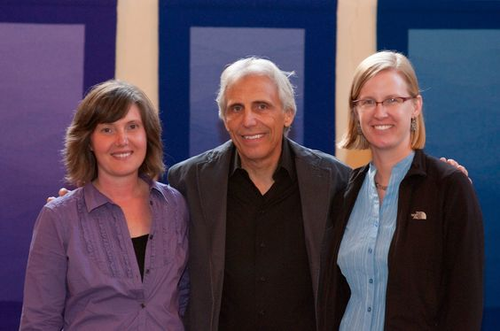 Cornelia Theimer Gardella, James Koehler, Rebecca Mezoff at the opening of Interwoven Traditions: New Mexico and Bauhaus in Erfurt, Germany, September 2010