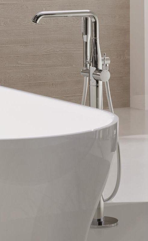 Grohe Essence Einhand Wannenbatterie Fur Bodenmontage Chrom 23491001 Standarmatur Badewanne Badewanne Freistehende Badewanne