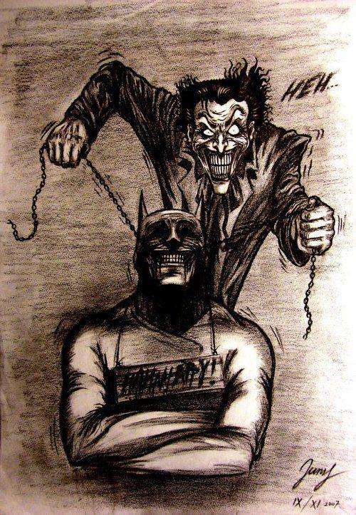 Batman and Joker. SMILE!: