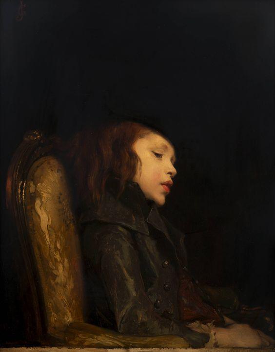 Léon Lucien Goupil (Parigi, 1834 – 1890) L'Aiglon olio su tavola, 64 x 51 cm. Fondazione Ottavio Mazzonis