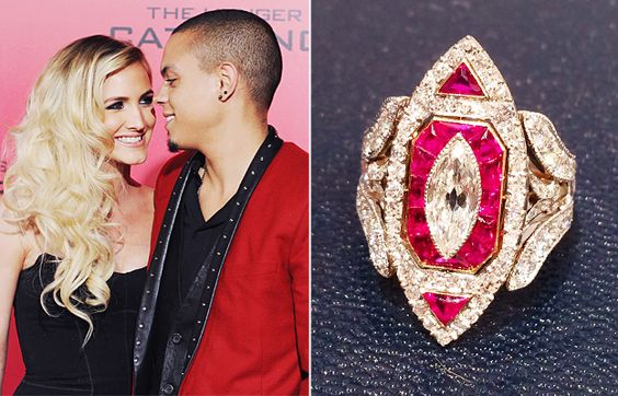 A Big Photo for a Big Rock: See Ashlee Simpson's Vintage-Inspired Engagement Ring #InStyle