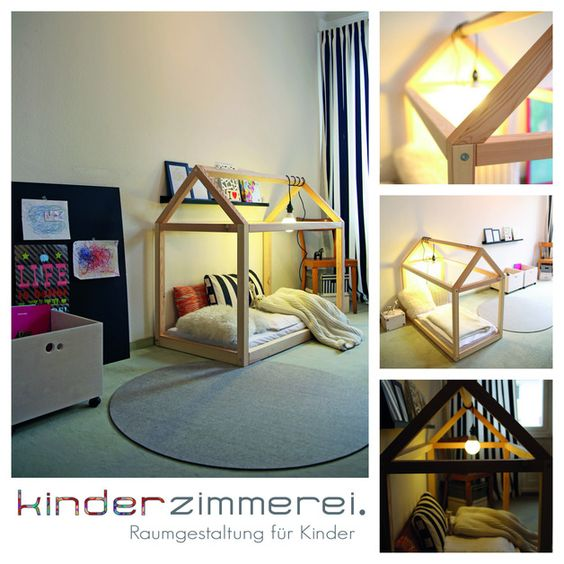 das h usle spielhaus und kinderbett schlaf f r kinder. Black Bedroom Furniture Sets. Home Design Ideas