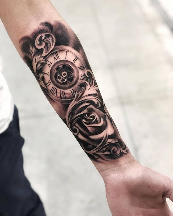 Clock Tattoos 5 Tatuagem Masculina Antebraco Tatuagem Relogio Com Rosas Tatuagem Masculina Braco