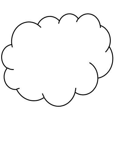 Hava Durumu Ve Mevsimler Oyunu Icin Bulut Kalibi Okul Oncesi