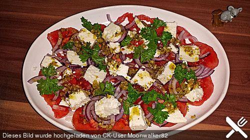 Leckerer Tomaten-Knoblauch Salat