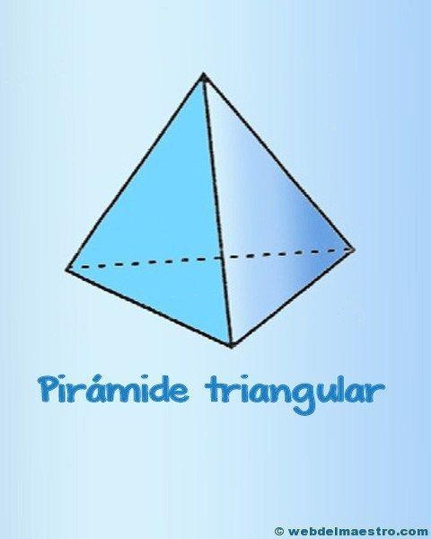 Figuras Geometricas Tridimensionales Primaria Web Del Maestro Piramide Matematica