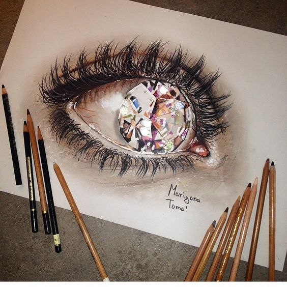 15 Amazing 3d Drawings That Will Blow Your Mind Eye Art Cool Drawings Eye Drawing