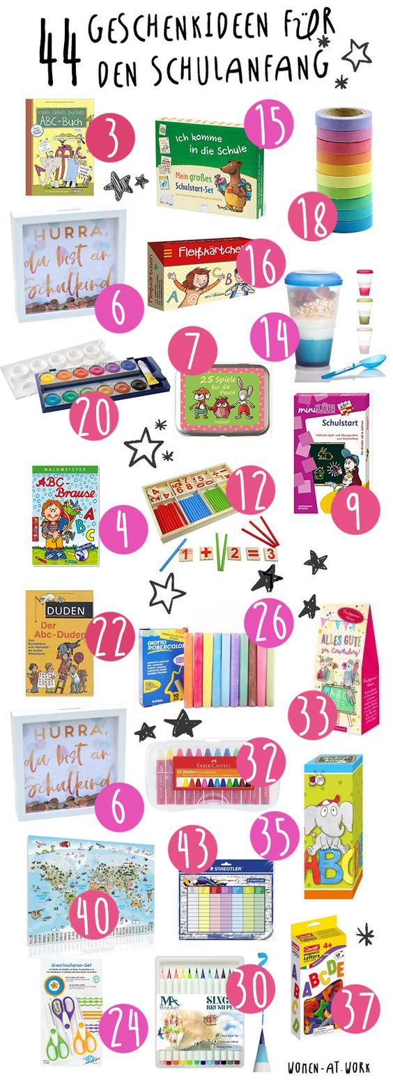 44 Geschenkideen für den Schulanfang und die Schultüte
