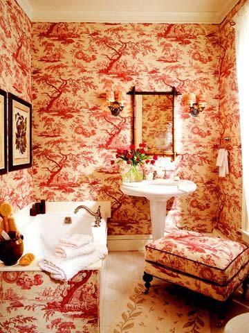 Pinterest the world s catalog of ideas - Toile bathroom decor ...