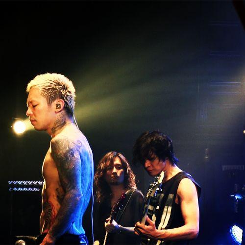 Kyo, Kaoru and Toshiya. Dir en Grey