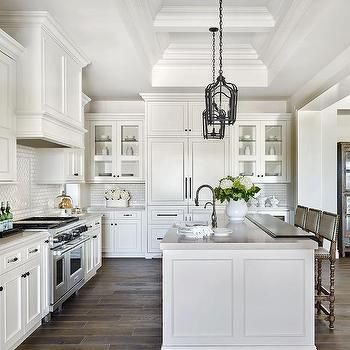 White Raised Panel Kitchen Cabinets