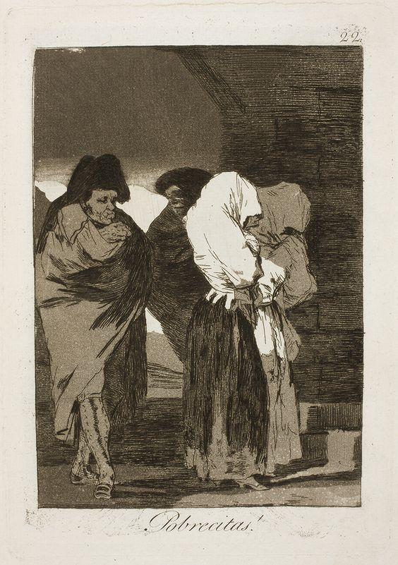 """Francisco de Goya: """"Pobrecitas!"""". Serie """"Los caprichos"""" [22]. Etching and aquatint on paper, 215 x 152 mm, 1797-99. Museo Nacional del Prado, Madrid, Spain"""