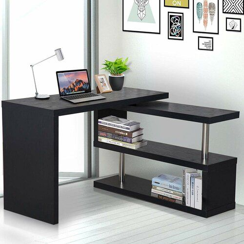 Zipcode Design L Formiger Schreibtisch Lothrop In 2020 Home Office Shelves Pc Desk L Shaped Desk