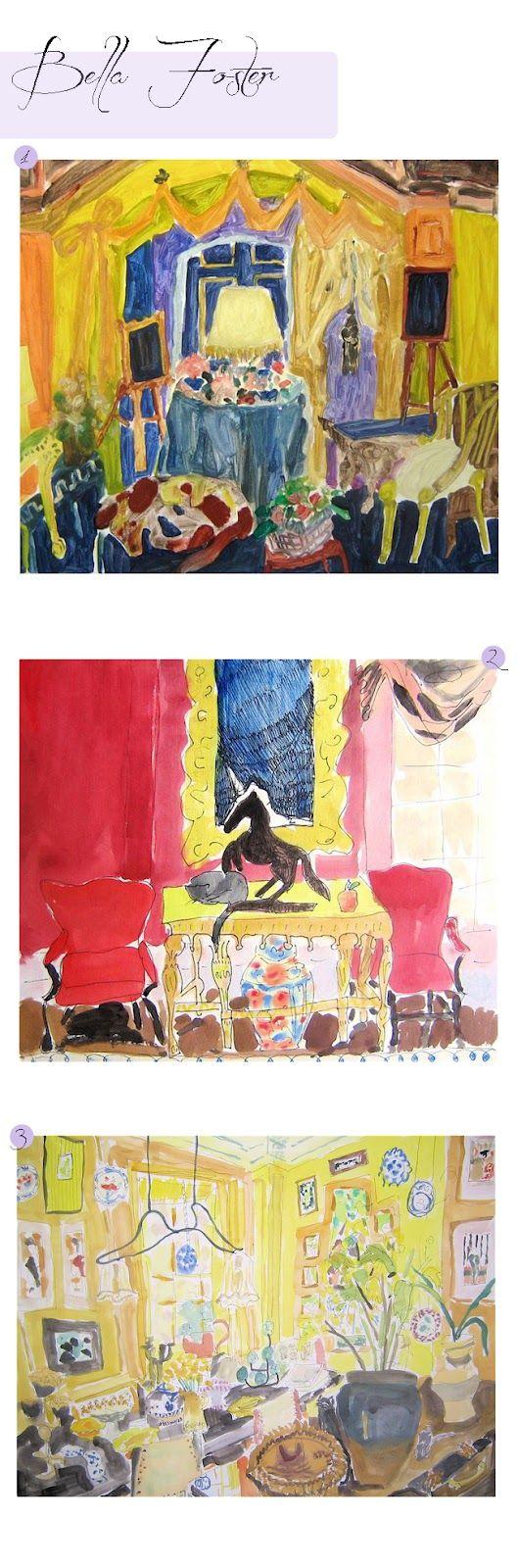 Riot For Design: Art Imitating Interiors- Bella Foster