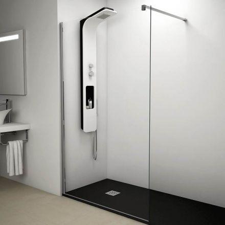 Paroi de douche fixe verre 8mm, 120 cm
