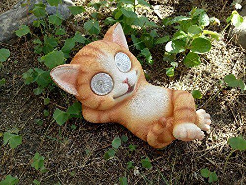 Solarleuchte Solar Katze Katzchen Tier Deko Garten 16437 Garten Ideen Gestaltung Garten Deko Garten Dekoration Garten Diy G Solarleuchten Garten Ideen Deko