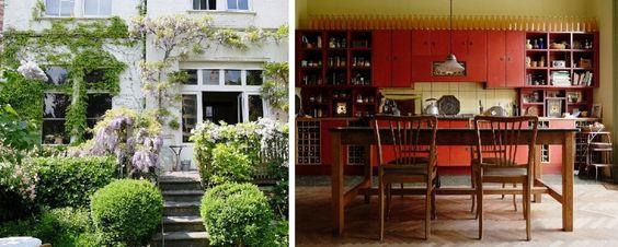 Face aux étangs d'Ixelles et à la place Flagey, cet appartement bourré de charme…