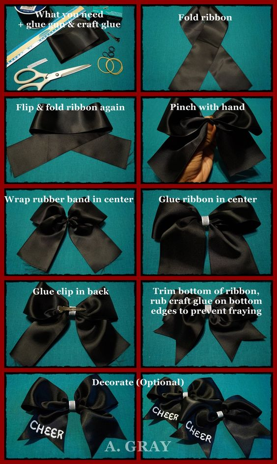 DIY EASY no-sew CHEER BOW. Like our page https://www.facebook.com/CheerAmericaRoseville/