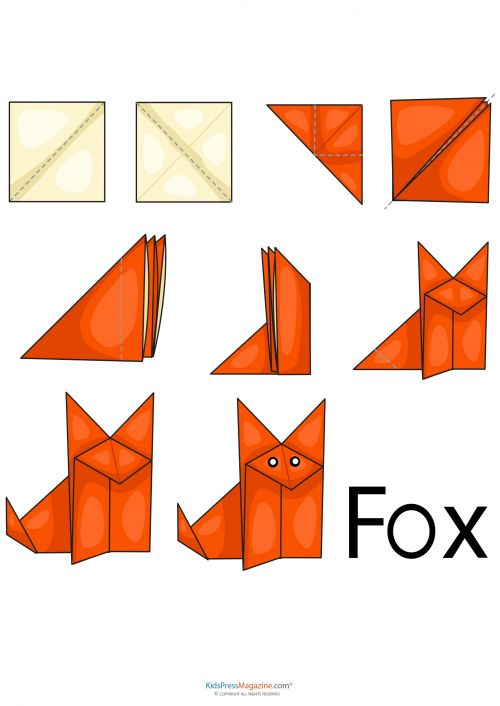 The fox says you should increase your mental dexterity by folding origami! This free and printable fox origami template is a great