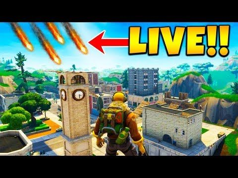 Comets Are Hitting Tilted Towers In Fortnite Right Now Gif Of
