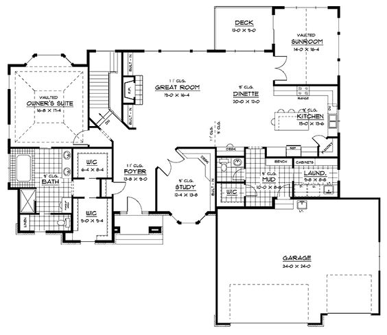 I Like The Foyer Study Open Concept Great Room And Kitchen: Open Floor, Floors And Floor Plans On Pinterest