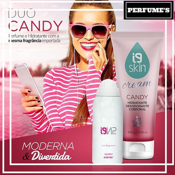 ✨✨ Duo Candy → Perfume + Hidratante com a mesma fragrância importada para o perfume durar muito mais na sua pele. Inspirado no Prada Candy, essa fragrância oriental gourmand é a queridinha das mulheres modernas, fashion e muito divertidas! #perfume #candy #hidratante  Perfume *Prada Candy 100ml (R$149,00)  Hidratante *Candy 200g (R$39,00)  Acesse: www.perfumesi9.com.br