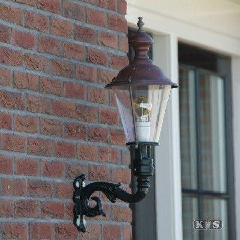 #klassiek #buitenlamp #wandlamp #aluminium #koper