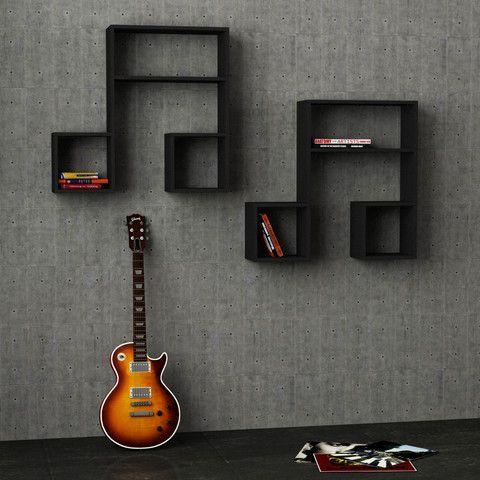 Wall Shelf (set Of 2); Music Theme, $180; Shelves, Simple, Stylish,  Artistic Bookcases; Dimensions: H: 32u2033 W: 34.9u2033 D: 8.6u2033 | PROJECTS |  Pinterest | Shelves ...