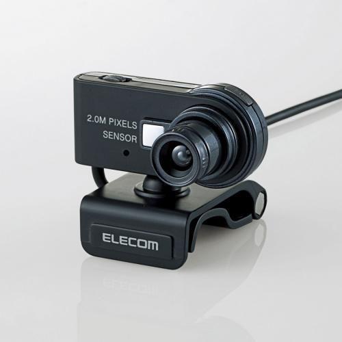 ヘッドセット付き200万画素Webカメラ エレコムUCAM-DLH200HSBK【楽天市場】