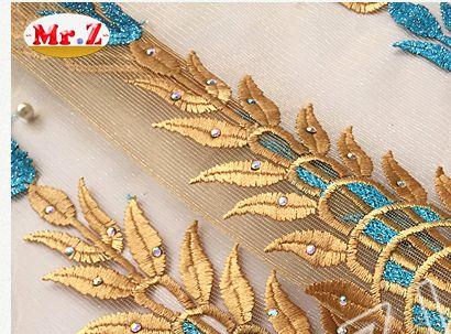 Aliexpress.com: Mr-Zより信頼できる ファブリックの建物 サプライヤからMr. z ロイヤル ブルー チュ ール ネット レース生地高品質メッシュ フランス語ネット レース生地刺繍メッシュ ネット レース生地用女性n1040を購入します