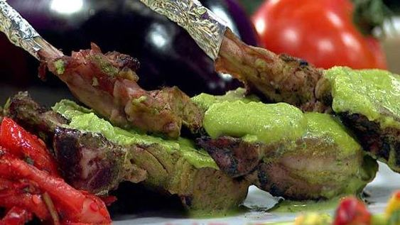 Mint-Cilantro Grilled Lamb Chops