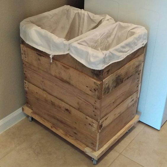 wooden clothes hamper.  this is a custom order piece, meaning each hamper would be made-to-order to customers specifications. 1. pick height,