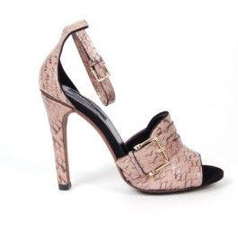Derek Lam snakeskin ankle strap sandal