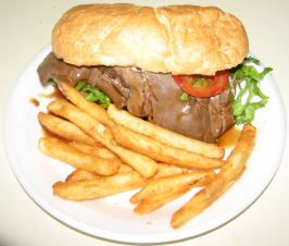 New Orleans Style Sloppy Roast Beef Poboy (Easy!!)