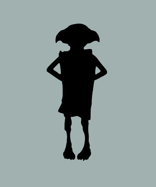 Dobby silhouette dobby the house elf silhouette d dub all about the ears pinterest beaux