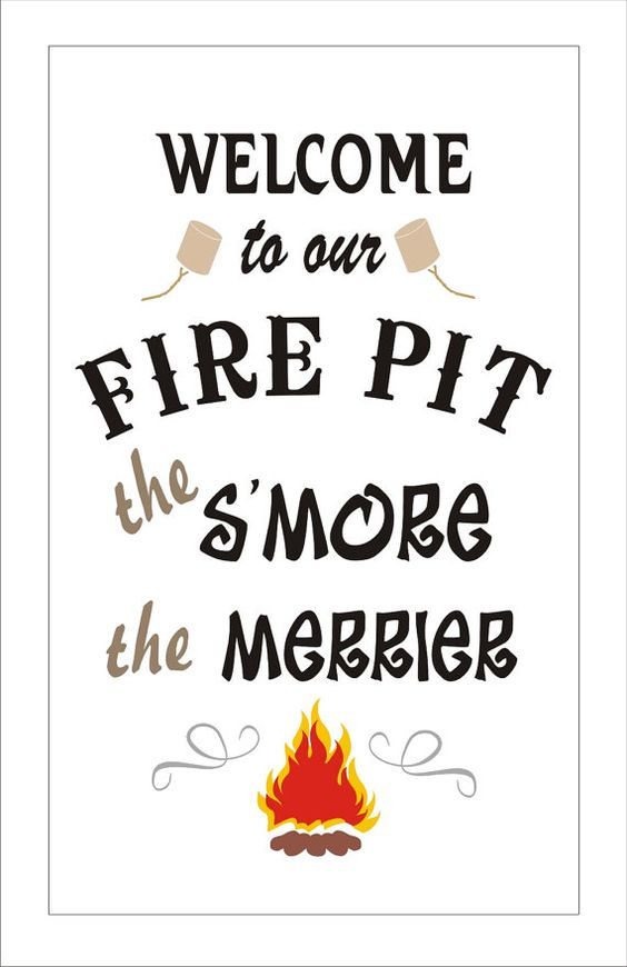 FIREPIT - Create Camping Signs- ***STENCIL*** - 6 Sizes ...