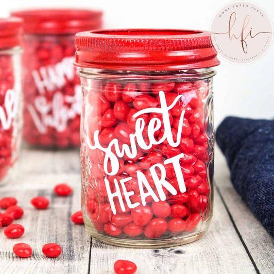 Mason jar projects make perfect DIY last-minute Valentine Gifts