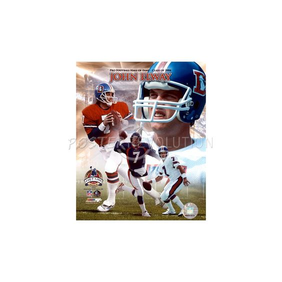 John Elway - Pro Football Hall of Fame Class of 2004 (Limited Edition) Glossy Photograph Photo - 16x20