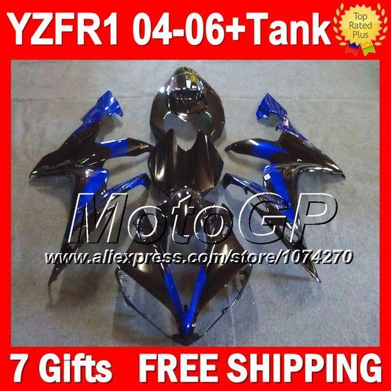 Дешевое 7 подарки + для YAMAHA YZFR1 04 06 YZF1000 синий черный YZF R1 P1019 YZF 1000 YZF R1 04 05 новый синий черный 06 2004 2005 2006 обтекатели, Купить Качество Щитки и художественная формовка непосредственно из китайских фирмах-поставщиках:                              Удостоверение личности aliexpress: MotoGP