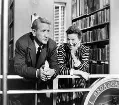 Desk Set (1957, Su otra esposa). Katharine Hepburn (1907, Conneticut, USA)  & Spencer Tracy (1900, Wisconsin, USA):