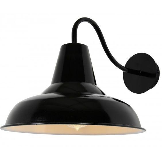 Outside Lamp Shades: Traditional Black Shade Outdoor Lamp £50 Enamel Lampshades,Lighting