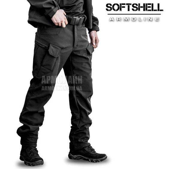 "Брюки SoftShell ""DIVISION"" BLACK, фото 1"