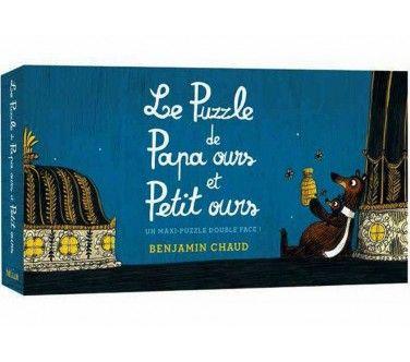 Benjamin Chaud - Le puzzle de Papa ours et Petit ours - 24 pièces double face