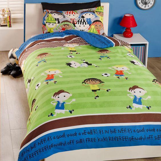 Kid's multi coloured football bedding set – PASX UK