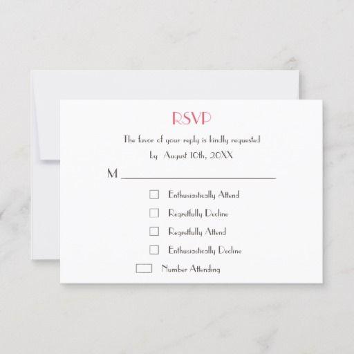 Funny Modern Custom Wedding White Rsvp Card Invite Zazzle Com