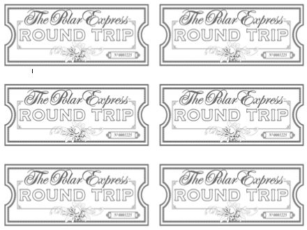 Polar Express Spirit of Christmas Free Printable Poster - blank printable tickets