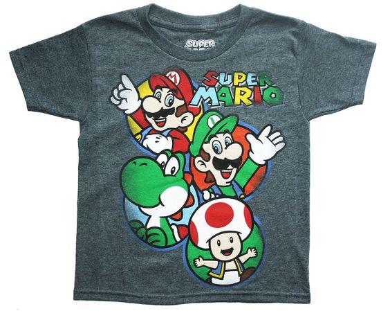 Super Mario Big Boys Short Sleeve Graphic T Shirt