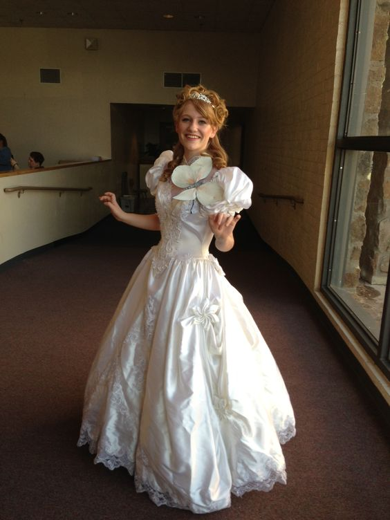 DIY Giselle From Enchanted Costume Old Wedding Dress From Goodwill