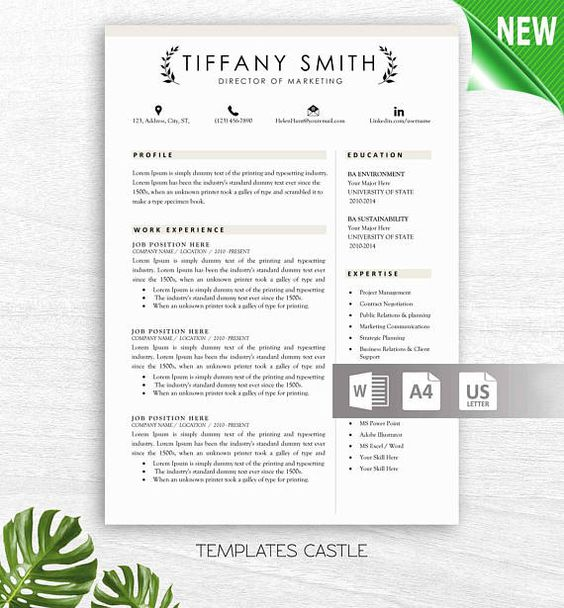 Modern Resume Template with Photo Professional Creative CV - modern resume templates